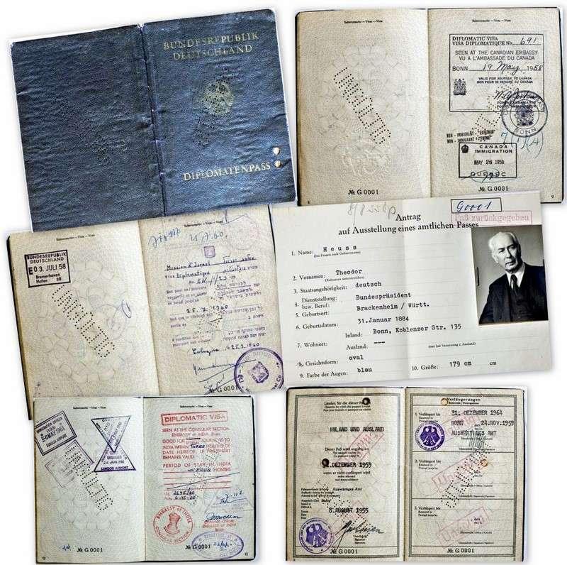 German History - Passport of Germany's 1st President
