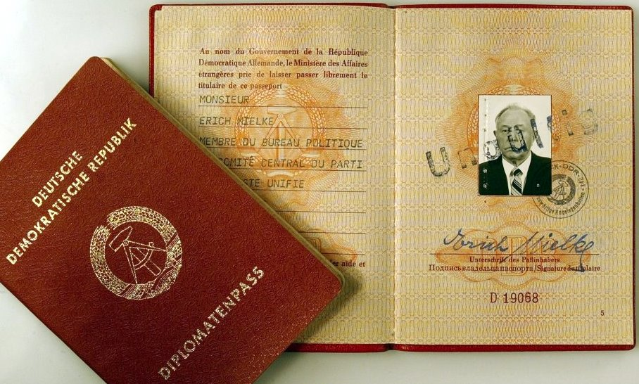 Diplomatic Passport Of East Germanys Minister Of State Security (STASI)