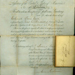 Samuel Colt passports, 1855 (French), Ms 75018. Connecticut Historical Society, Hartford, CT