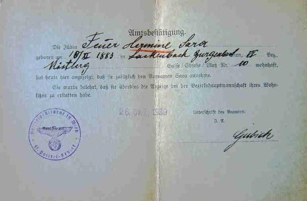 """J"" Stamp and Jewish Names in German Passports"