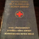 Schutzbrief Swedish Red Cross signed by Langlet