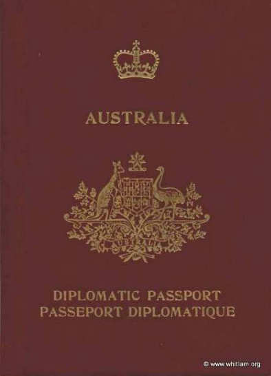 1-1981 Diplomatic Passport for the Hon Edward Gough Whitlam QC MP
