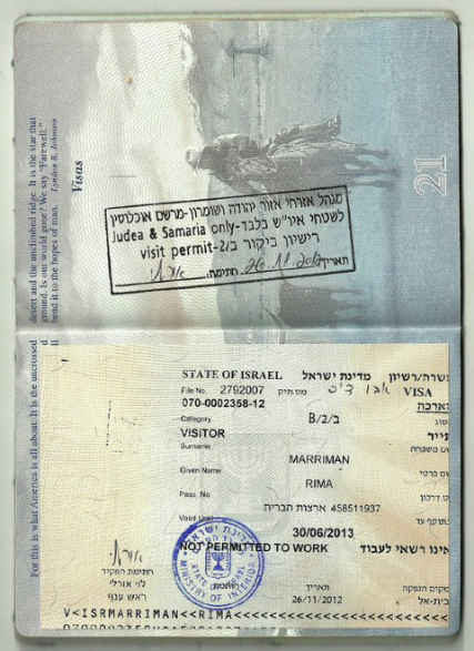 "Effective annexation: Israel now stamping passports of West Bank visitors ""Judea and Samaria only"" (update)"