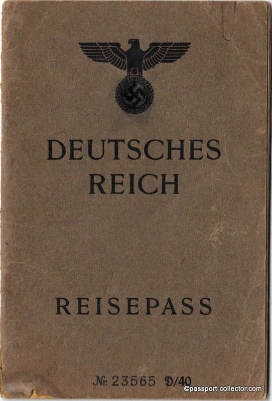 This passport was issued August 1946 in Cologne - still with Swastika!