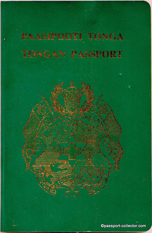 KINGDOM OF TONGA PASSPORT