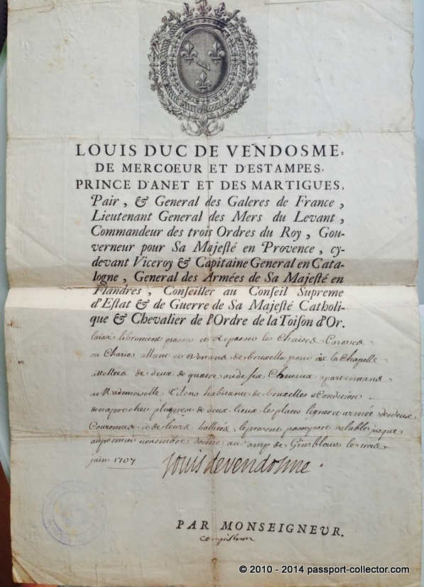 Louis Vendome 1704