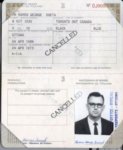 James Earl Ray Fake Canadian Passport – Assassin of Martin Luther King