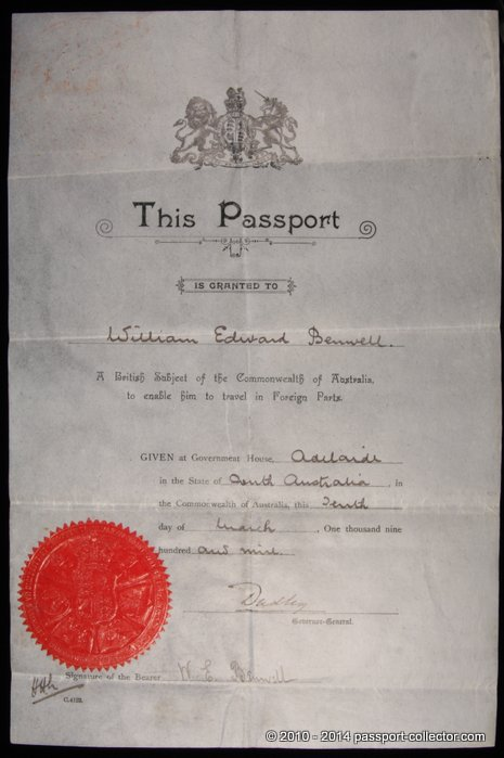 The Evolution of the Australian Passport