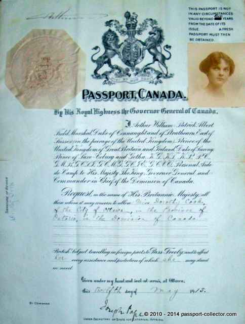 The Canadian Passport – Early Years