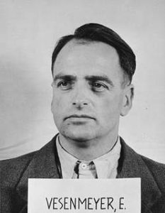 Portrait of Edmund Veesenmeyer as a defendant in the Ministries Case Trial at Nuremberg