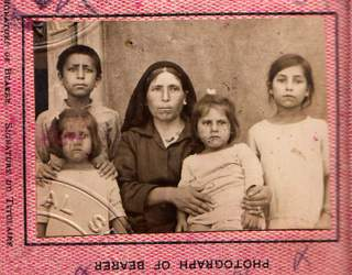 Colony of Cyprus 1925 - British Passport - Fantasitic! Family of Five, Visas