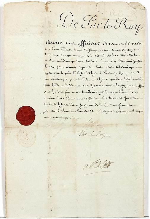France Louis 1785 James Lamb