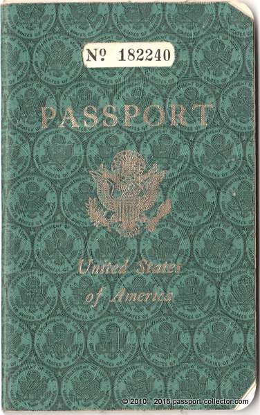 Her US passport issued 1953 with several travels to Germany 1953-1955