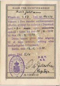 German Passport Danish Military Mission