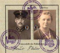 East German Territory Passport • Glogau 1933 • Lower Silesia