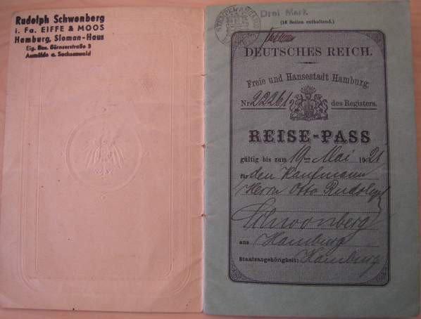 Hamburg 1920 Slesvig revenue