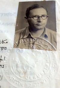 Palestine Certificate Of Naturalization 1942