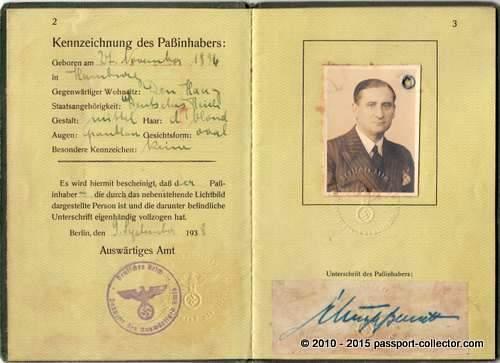 Ministerialpass Schulze-Bernett 1938-002