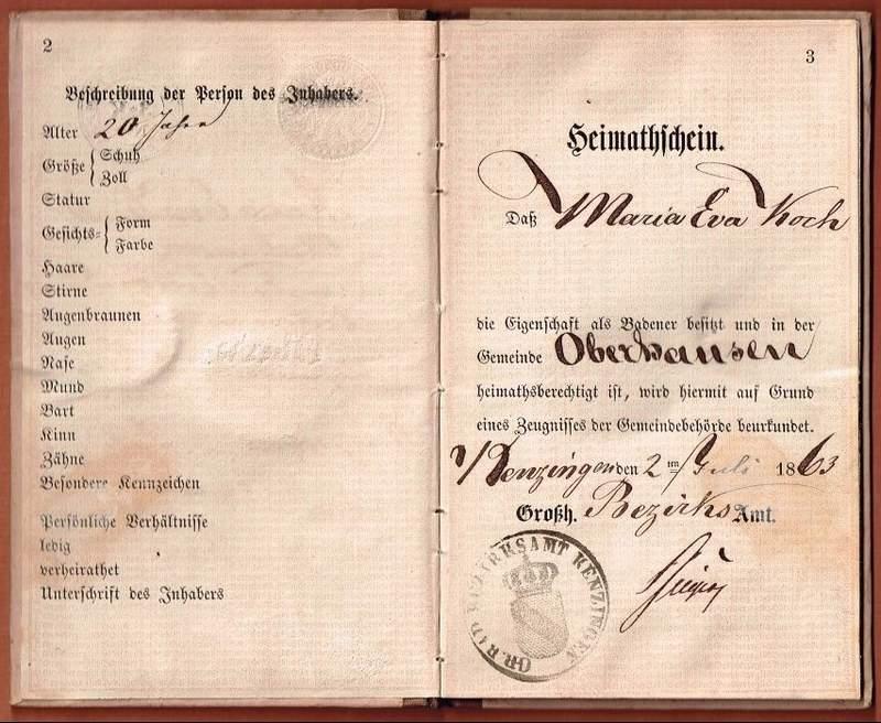 Pass book Baden 1863-002