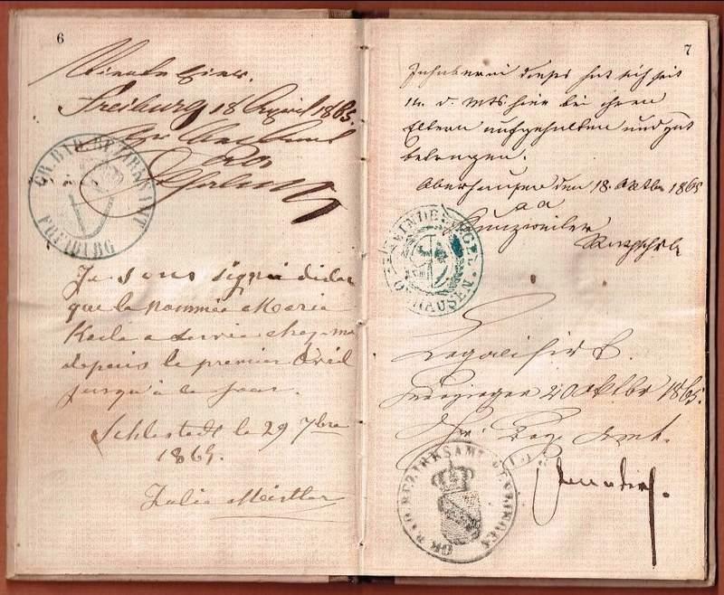 Pass book Baden 1863-003