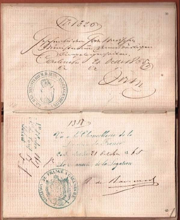 Pass book Baden 1863-004