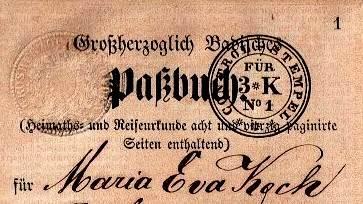 Pass book Baden 1863-005
