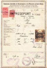 Upper Silesia Plebiscite Passport 1921 Issued In Rybnik