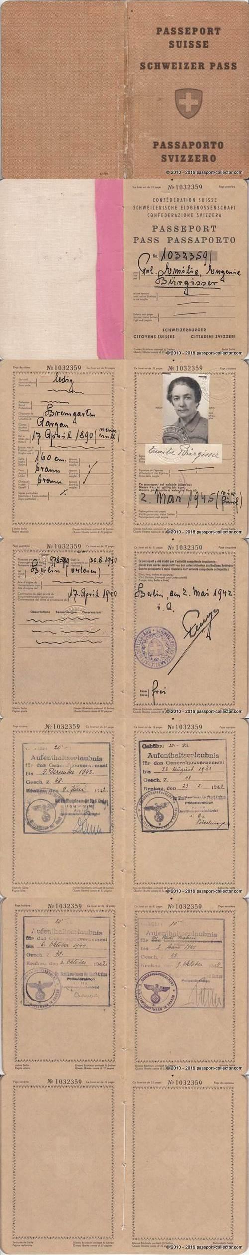 Switzerland 1942 Berlin-vert