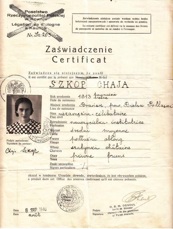 Szkop Chaja_CN_Visa_Stockholm_1940-002