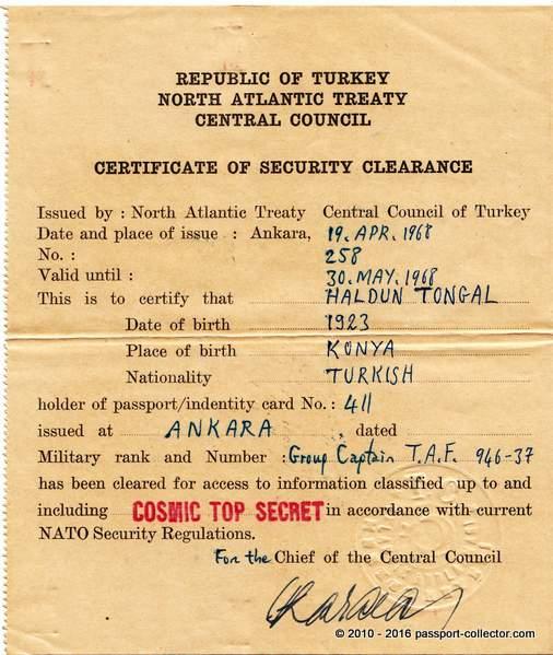 Turkey NATO Travel Order 1968 COSMIC-004
