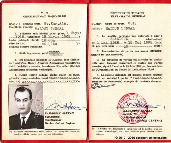 Turkey NATO Travel Order 1968 COSMIC-005