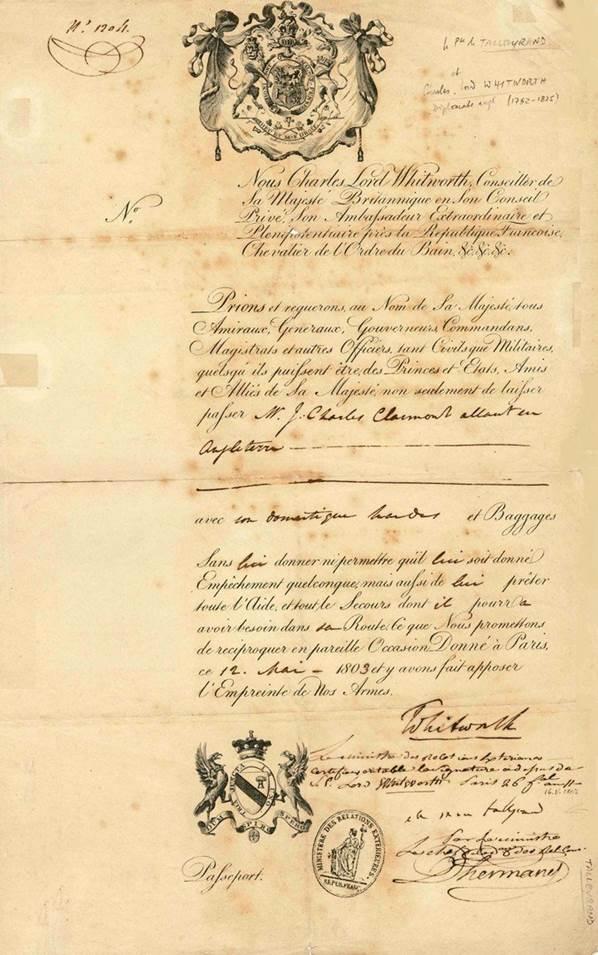 UK Talleyrand 1803
