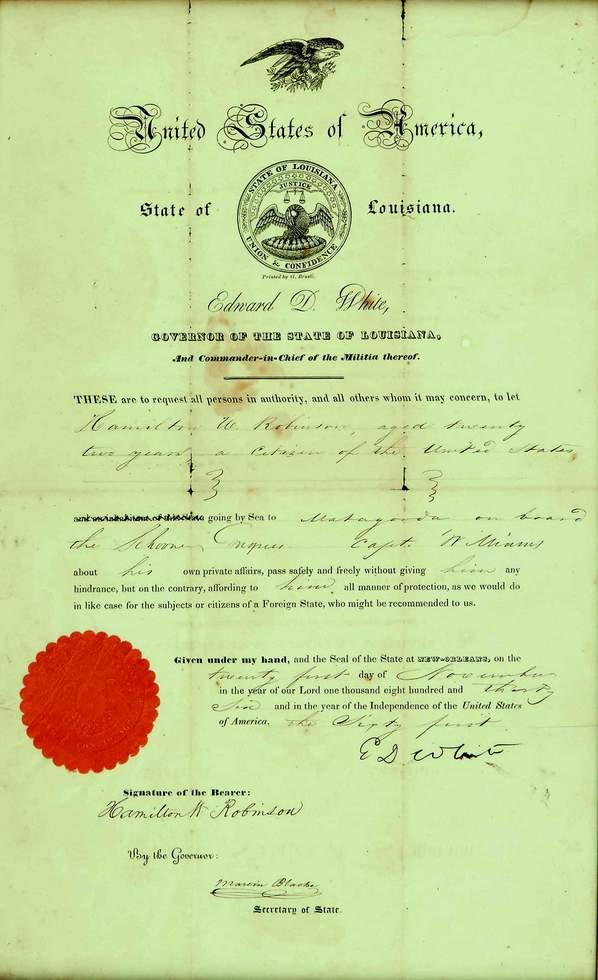 United States Of America - State Of Louisiana Passport