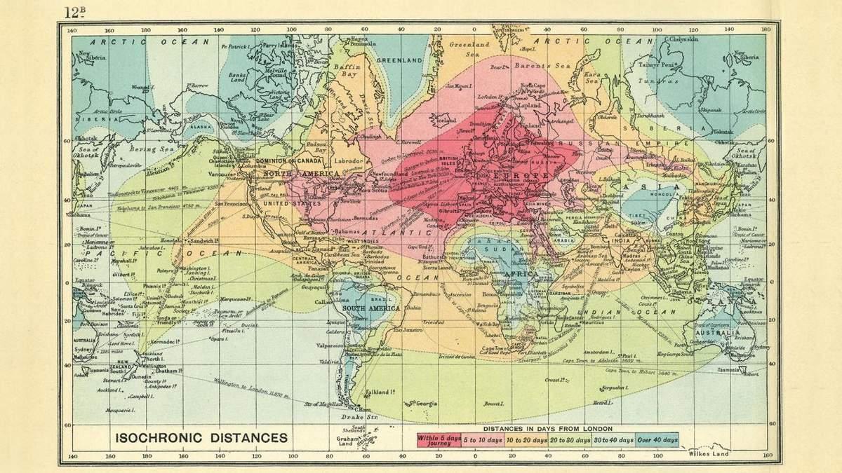 isochronic map