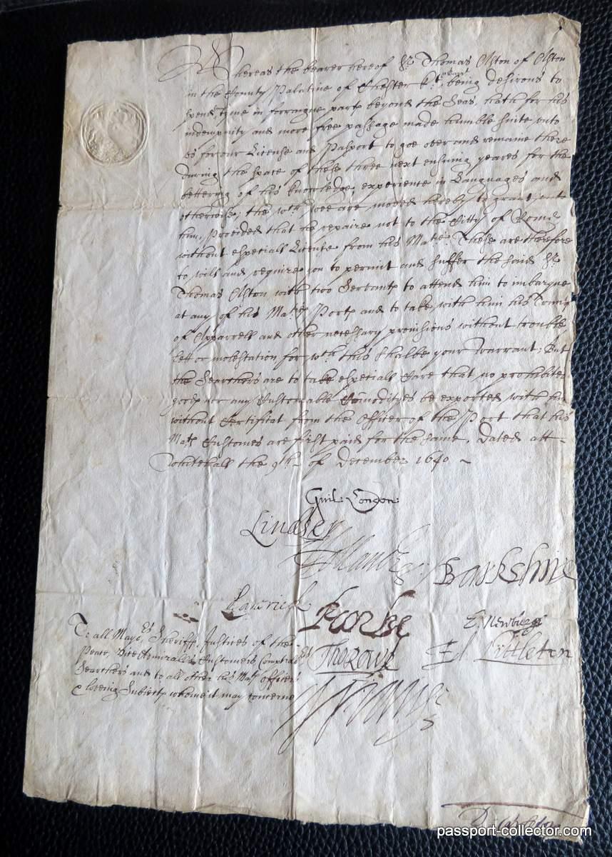 English Passport twelve signatures