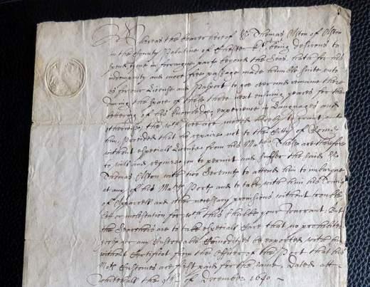 English Passport 1640 with twelve signatures