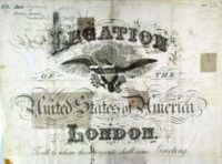 Beautiful US Passport 1886, Legation London With Several Russian Visa