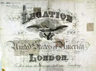 US Passport 1886 Legation London