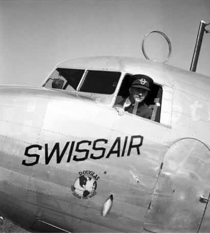 Swissair Chief Pilot Ernst Nyffenegger Passport
