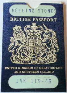 Rolling Stones Fan passport