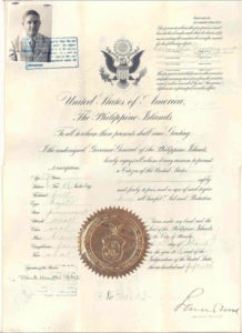 PASSPORT 1926 PHILIPPINE ISLANDS FRANK HAMILTON ROBERTS