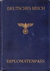3rd Reich Diplomatic Passport