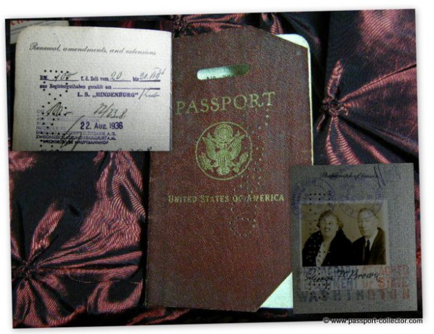 US passport from LZ129