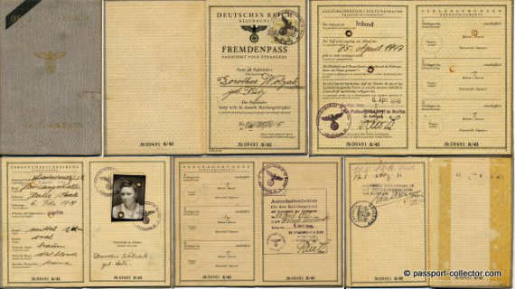 last nazi germany passport