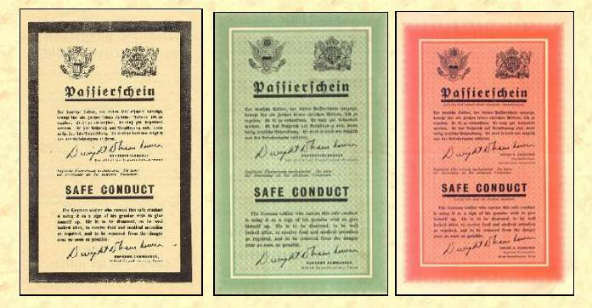"THE ALLIED ""PASSIERSCHEIN"" SAFE CONDUCT PASSES OF WWII"
