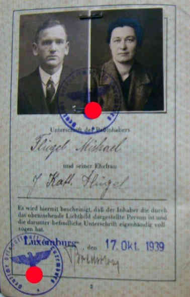 Germany_Luxembourg passport 1939