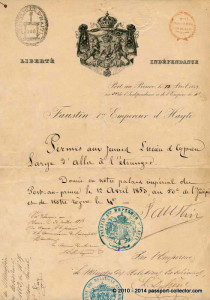 Haiti 1853 passport