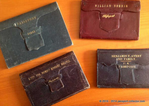 Old Passports In Leather Wallets