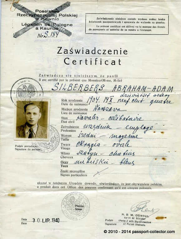 Sugihara & Zwartendijk Visas On One Travel Document