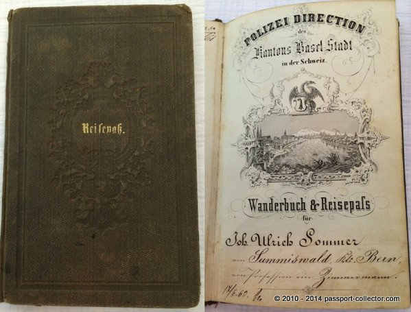 Switzerland_Wander book and passport1858
